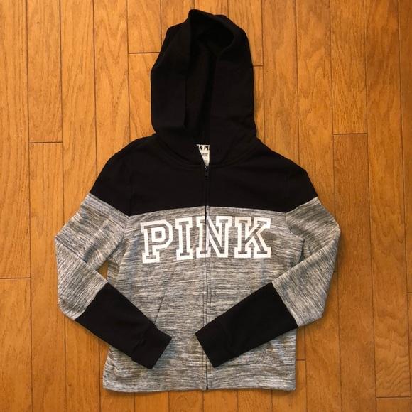 6c603826039d7 VS PINK Athletic Zip Up Hoodie Sweatshirt